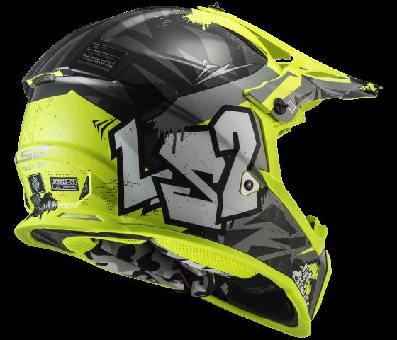 MX437 Fast EVO CRUSHER Black H-V Yellow