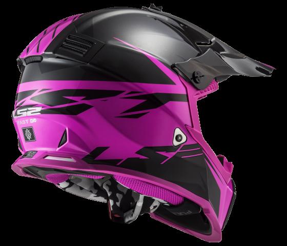 MX437 Fast EVO ROAR Matt Black Purple
