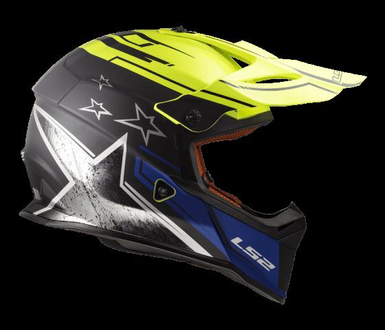 MX437 Fast CORE Matt Black H-V Yellow